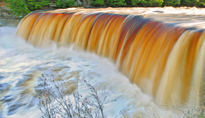 Upper Peninsula Attractions | UP Attractions | Tahquamenon Falls State Park | Upper Tahquamenon Falls | Upper Tahquamenon Falls |  Upper Peninsula Waterfalls
