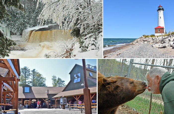 Upper Peninsula Attractions | UP Tahquamenon Falls | Oswalds Bear Ranch | Seney | Whitefish Point | Nature's Kennel